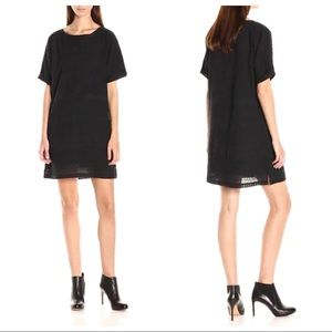 Scotch & Soda Black Embroidered Shift Dress